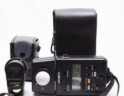 [Near Mint] Minolta Auto Meter IIIF Light Meter w/ View Finder 5 Degree 5° Japan