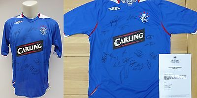 2006-07 Rangers Home Shirt Signed by Squad with Official COA (10118)