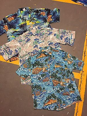 VINTAGE wholesale Hawaiian patterned Summer Shirts short sleeve x 100