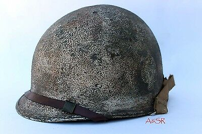 U.S. M1 helmet w/Westinghouse jump liner 506th PIR Easy Company Ardennes camo