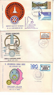 Rotary International  Argentina 1978/80 Lot Of Three Cacheted Covers