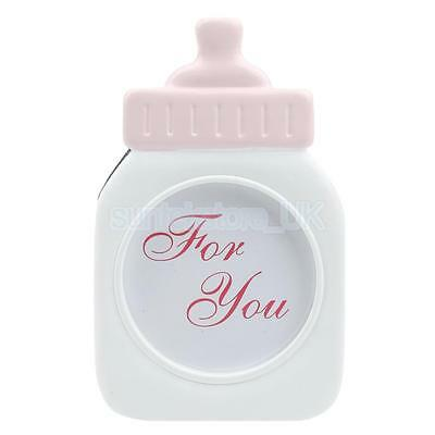 Decorative Pink Baby Bottle Shape Photo Frame Home Decor Baby Shower Gift