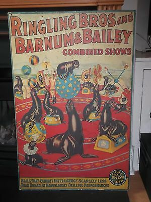 Ringling Bros & Barnum & Bailey Circus Vintage 1970'S Mounted Original Poster