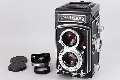 [Mint] Rollei Rolleicord Vb vintage 6x4.5 TLR camera, lens Xenar 75mm f/3.5Japan