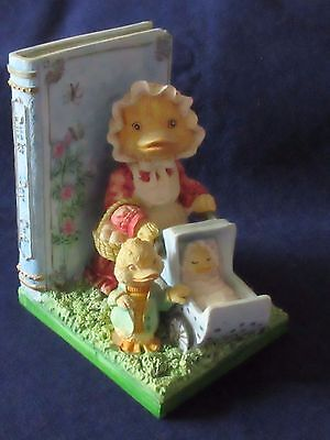 heavy pottery duck figure book ends