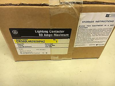 Ge Cr360L46202Apaz New In Box 60A Lighting Contactor 2P 3R 120V Coil Shelf C