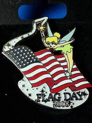 Disney Pin DLR Flag Day Tinker Bell LE On Original Card