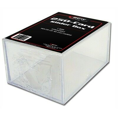 Trading Card Storage Box Acrylic - Holds 250 Cards x 2 Pack