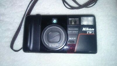 Collectible NIKON TW2 Vintage Compact AF 35mm Film Camera
