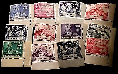 MNH UPU issues from Fiji, Gambia & Gibraltar (12 stamps)