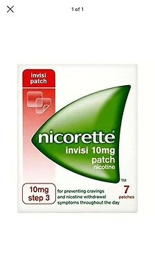 2 x NICORETTE 10mg INVISI PATCH 7 PATCHES (14 PATCHES) 1/2018