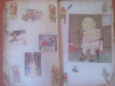 Vintage 1930s Scrap Book with early 1900s to 1930s scraps ~ The Whopper