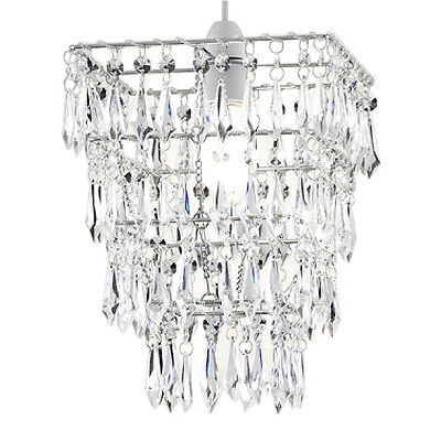 Square Multi Tier Vintage Style Ceiling Pendant Light Shade Chandelier Lampshade