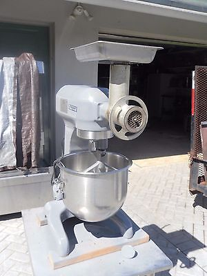 Hobart A-200  Commercial Mixer With #12 Grinder Head, Bowl & Paddle Beater