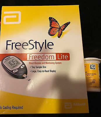 Abbott Freestyle Freedom Lite Blood Glucose Meter. New In A Factory Sealed Box !