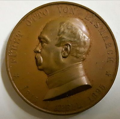 Bronze Medal 1895, Otto V. Bismarck, On His 80. Birthday, Mint State