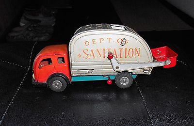 1950's / 60's Friction Dept. Of Sanitation Toy Truck