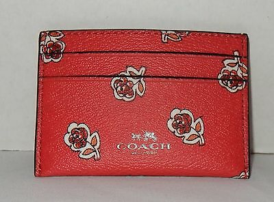 NWT Coach Sienna Rose Credit Card Case Watermelon style F57226