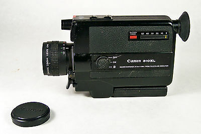 Canon 310XL Super 8 Movie Camera with f 1.0 / 8.5-25.5mm Macro Lens ~ Working