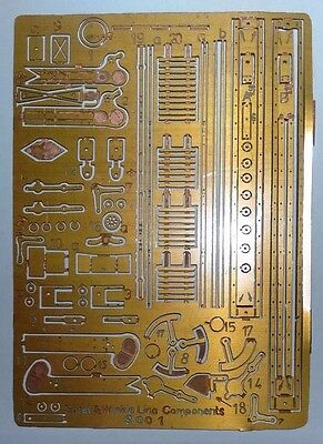 SIGNAL PARTS BY SPRAT & WINKLE, ETCHED BRASS SHEET OF 'OO' Signal Parts S001
