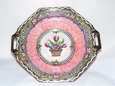 New Hall 'BOUMIER WARE'  Lustre Pink Bowl c.1930's