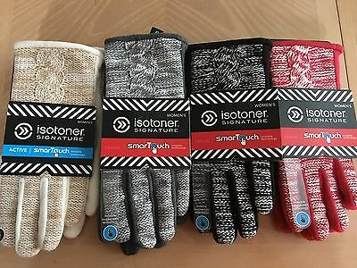 NEW Womens Isotoner Signature SmarTouch Active Gloves Various Colors XS/S-M/L-XL