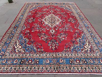 Old Traditional Hand Made 12x8 Persian Oriental Wool Red Large Carpet 350x255cm