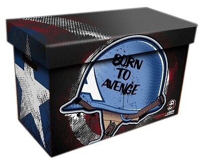 Comic Book Cardboard Storage Box Born To Avenge Artwork, holds 125-140 Comics