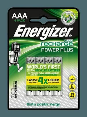 4 Piles rechargeable Pack Energizer Power Plus Precharged AAA LR3 AAA 700mAh