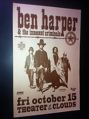 Ben Harper Rare Mike King Original 1999 Portland Oregon Concert Tour Poster