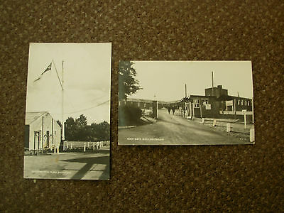 2 X 1955 Burghfield Reading H.m.s Dauntless Wrens Camp Real Photo Postcards