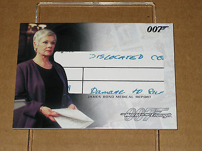 !@@! 2007 James Bond 007 Complete Medical Report Rc2 Movie Relic Prop Card Piece