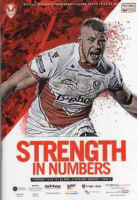 St.helens V Catalan Dragons Rugby League Programme & Dvd 14-4-16