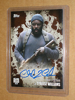 [@@] 2016 WALKING DEAD CHAD COLEMAN TYRESE SEASON 5 MUD AUTO autograph card 1/50