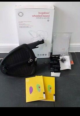 Bugaboo wheeled buggy stroller ride on board, boxed with adapters, for Bee etc.