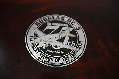 Sticker Douglas Dc-3 The 75Th Anniversary The Great Wings Of The Immortal