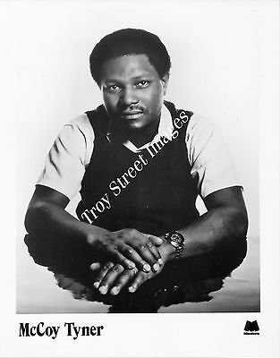 Original promo photo of jazz pianist and bandleader McCOY TYNER, early 1970s