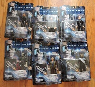 """Playmates Star Trek """"First Contact"""" figures lot of 6 Great Shape"""