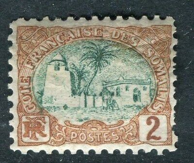 FRENCH SOMALIA;   1902 early pictorial issue Mint hinged 2c. value