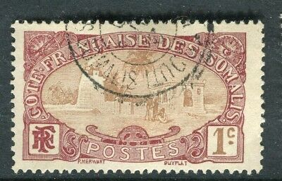 FRENCH SOMALIA;   1909 early pictorial issue fine used 1c. value