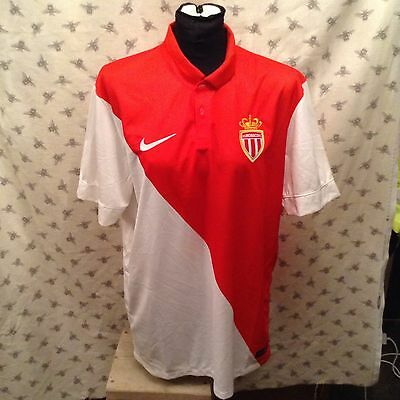 AS Monaco home shirt. BNWT. Adults size large