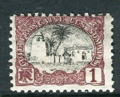FRENCH SOMALIA;  1903 early pictorial issue Mint hinged 1c. value