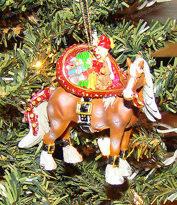 Santa Horse Ornament, 2011 (Clydesdale) Horse Different Color by Westland, 20636