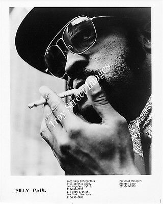 Original promo photo of soul and pop vocalist BILLY PAUL, mid 1970s