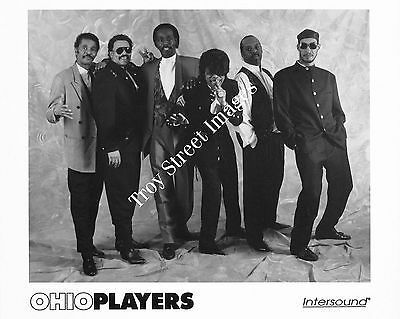 Original 8x10 promo photo of soul and funk group OHIO PLAYERS, mid 1990s