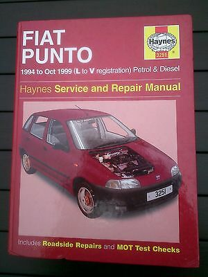 Fiat punto Haynes workshop manual petrol & diesel 1994-1999 L to V new sealed