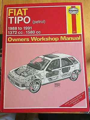 FIAT TIPO Haynes WORKSHOP MANUAL 1988-1991 petrol