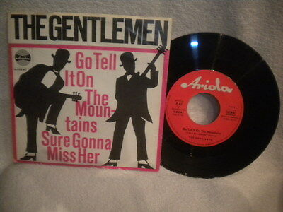 """7"""" The Gentlemen -- Go Tell It On The Mountains / Sure Gonna Miss Her"""