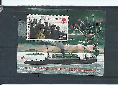 Alderney stamps. 1995 Return of the Islanders minisheet MNH (Y449)