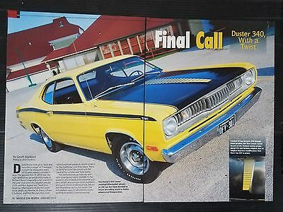 1972 Plymouth Duster 340  4-Page Article - Free Shipping